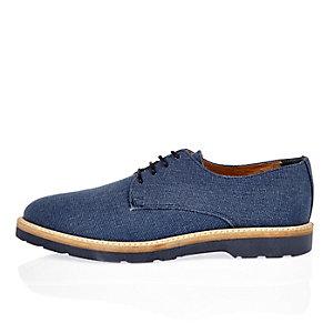 Navy denim shoes