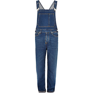 Mid blue wash overalls