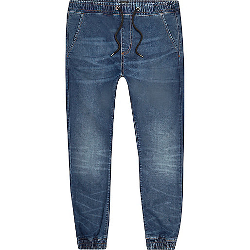 Mid blue wash Ryan jogger jeans