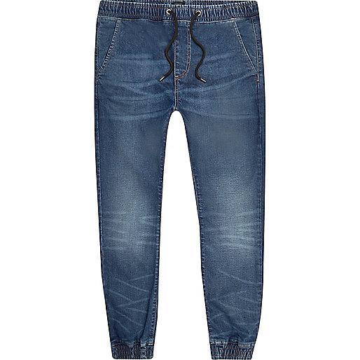 Jean Ryan délavage bleu moyen style pantalon de jogging