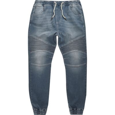 Ryan middenblauwe wash biker-joggingjeans