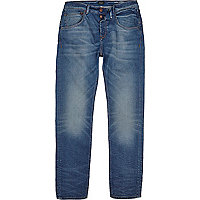Jean skinny fuselé Chester bleu délavage moyen