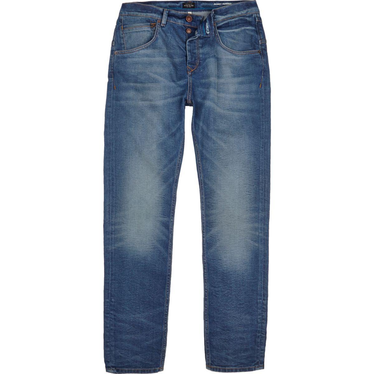 Chester – Mittelblaue Skinny Jeans