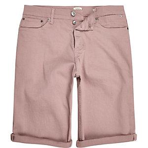 Short en jean rose coupe skinny