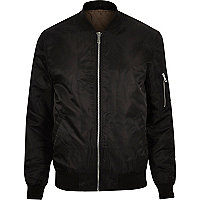 Black padded MA1 bomber jacket