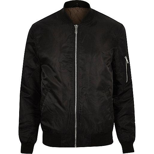Black padded MA1 bomber jacket