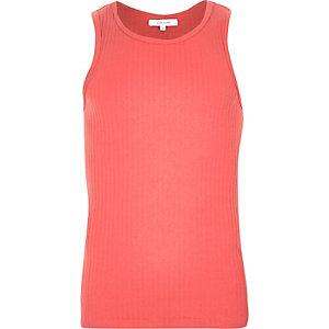 Red ribbed vest