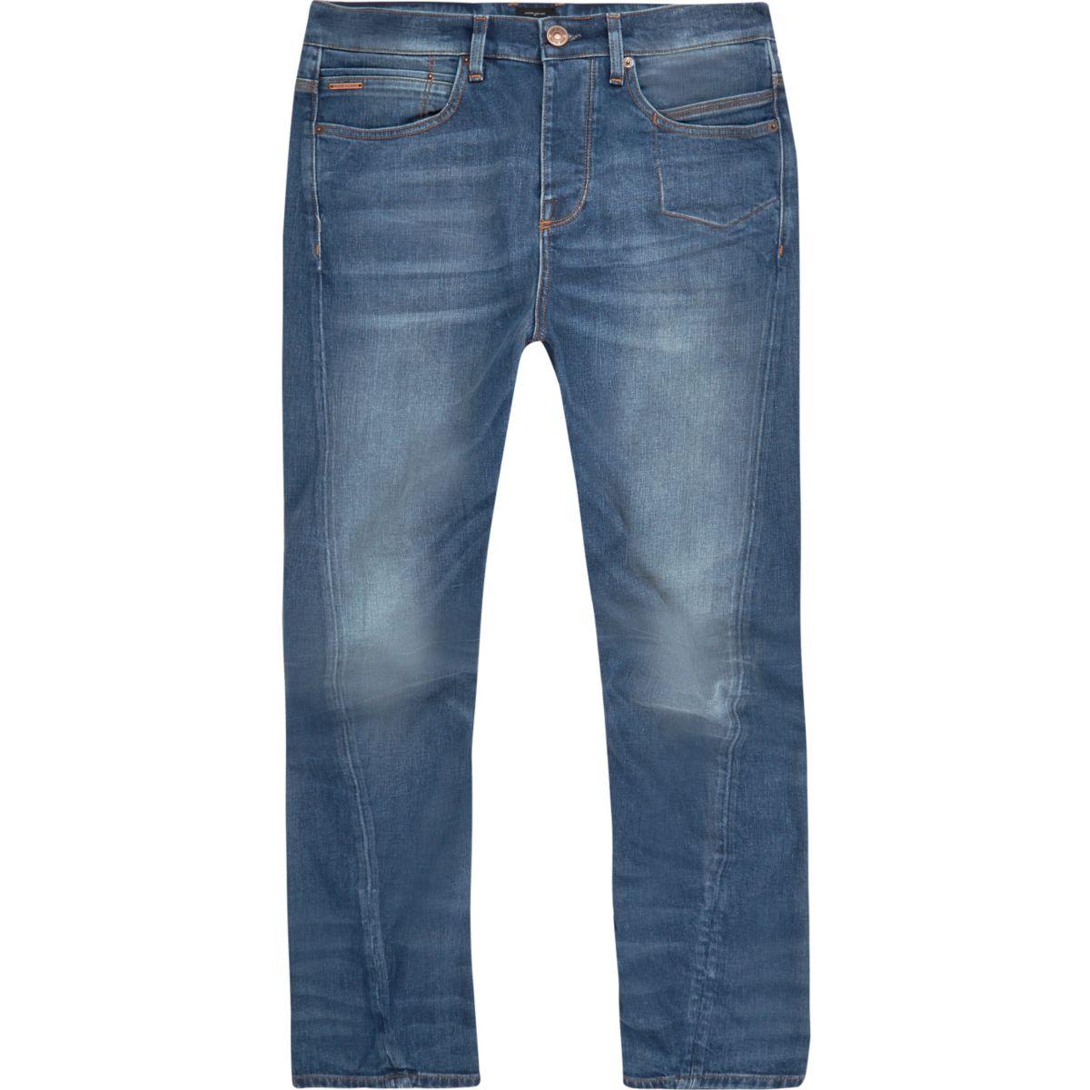 Jean Curtis bleu délavage moyen coupe large
