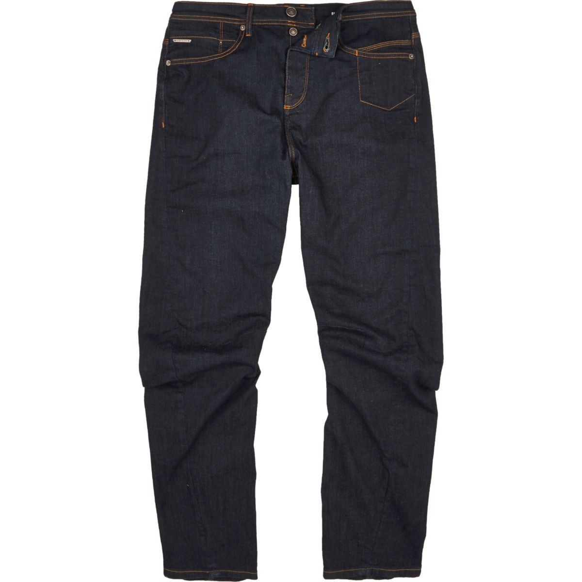 Dark blue wash Curtis slouch fit jeans