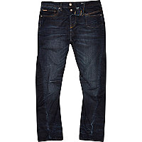 Dark blue wash Curtis slouch jeans