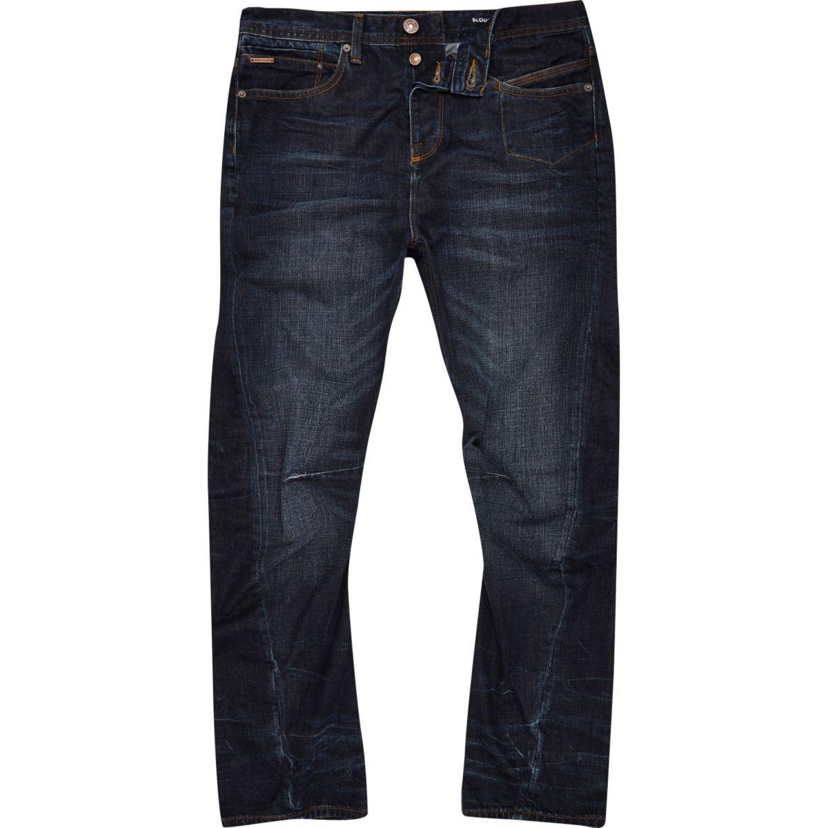 Curtis – Dunkelblaue Loose Fit Jeans