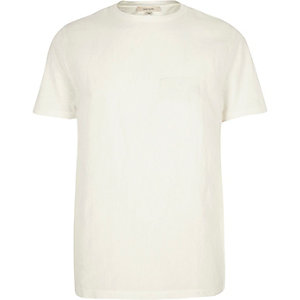 White woven front t-shirt
