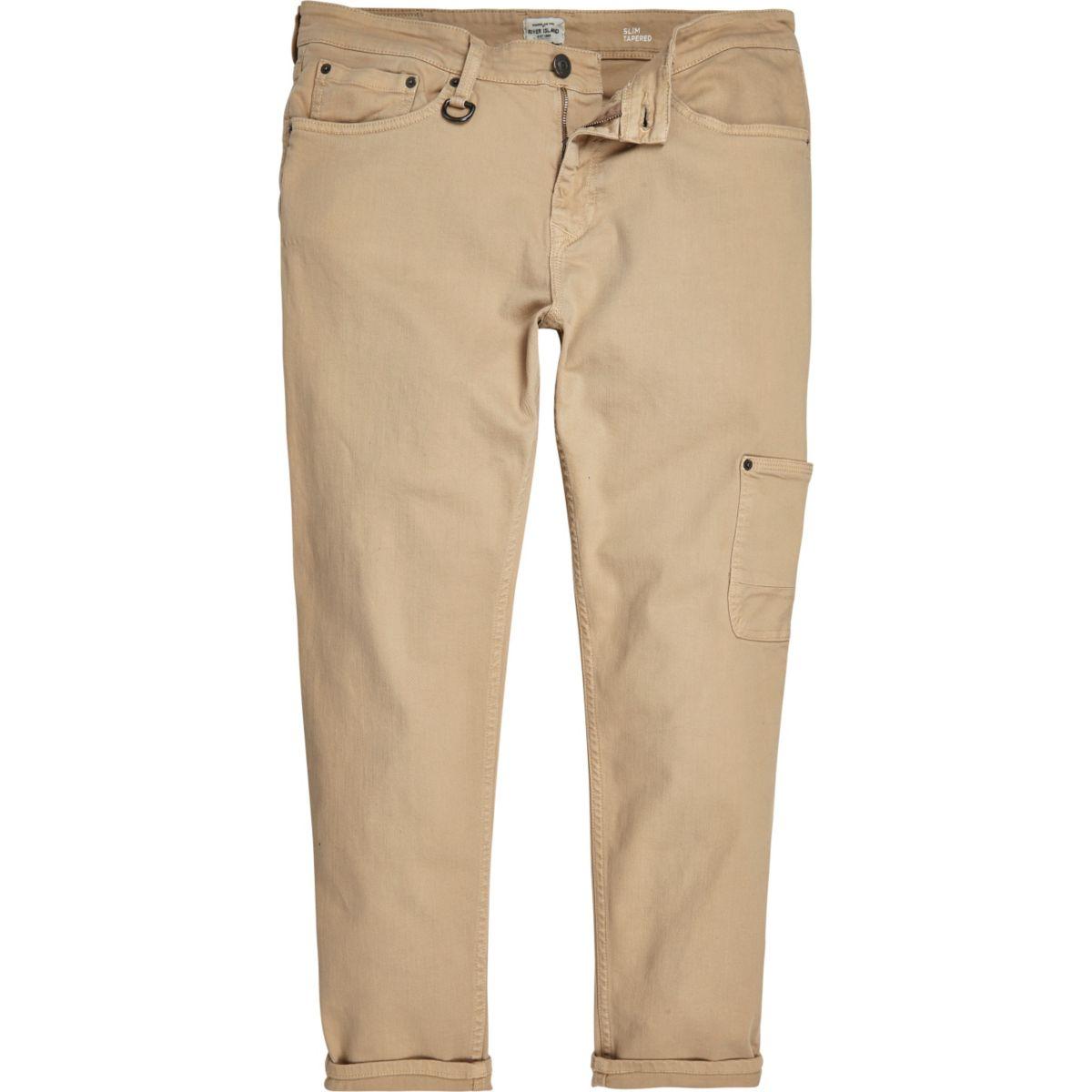Tan Jimmy slim tapered pants