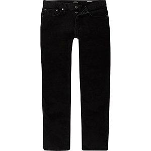 Black wash Dean straight jeans