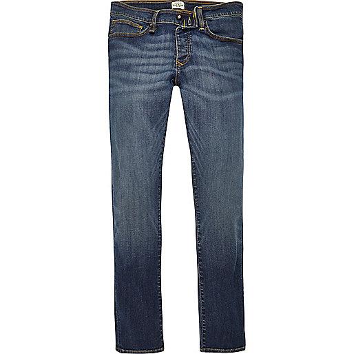 Blue wash RI Flex Danny super skinny jeans