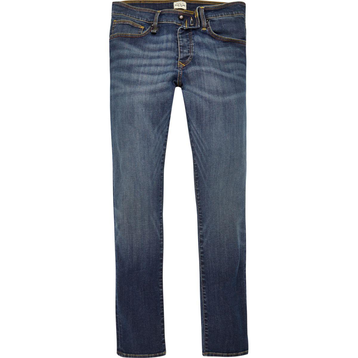 Blauwe wash RI Flex Danny superskinny jeans