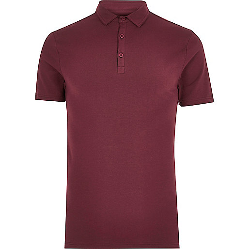 Burgundy muscle fit polo shirt polo shirts men Burgundy polo shirt boys