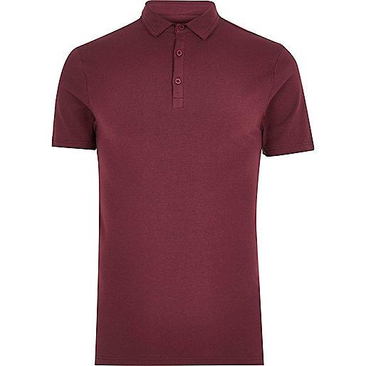 Burgundy muscle fit polo shirt polo shirts men Burgundy polo shirt boys