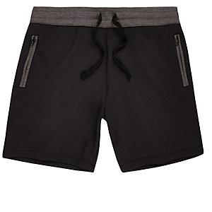Navy jogger shorts
