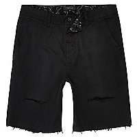 Short noir usé coupe slim