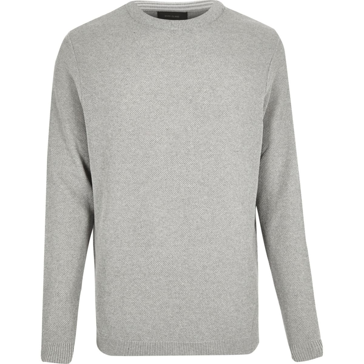 Grey textured sweater