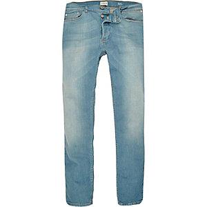 Sid - Lichtblauwe wash skinny stretchjeans