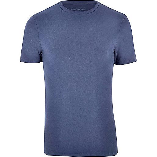 T-shirt ajusté bleu marine