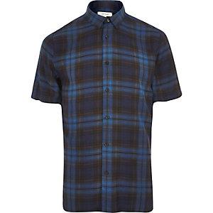 Chemise à carreaux bleue