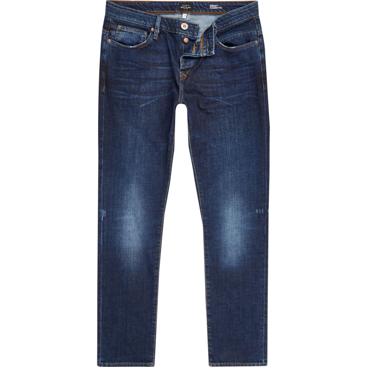 Dark blue wash Ronnie skinny cigarette jeans