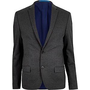 Veste de costume gris moucheté coupe skinny