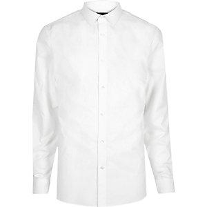 Wit modieus slim-fit overhemd