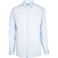 Hellblaues, elegantes Slim Fit Hemd
