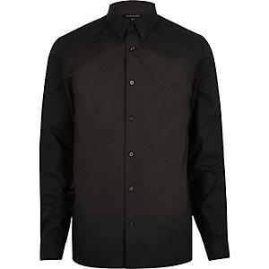 Chemise noire habillée cintrée