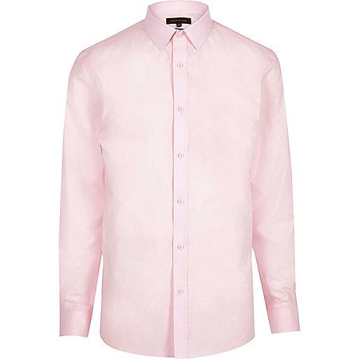 Pink formal poplin slim fit shirt