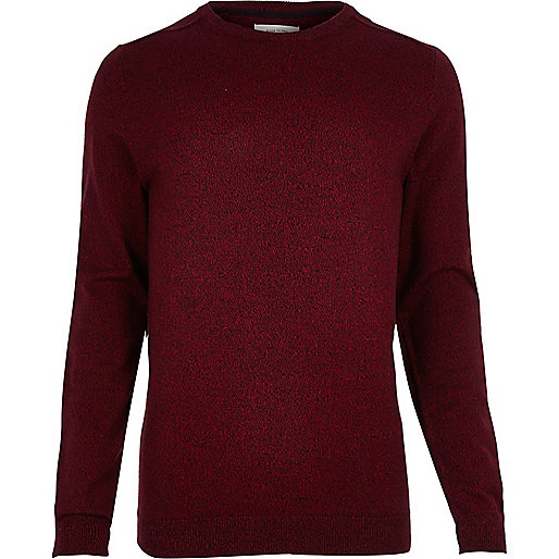 Red crew neck sweater