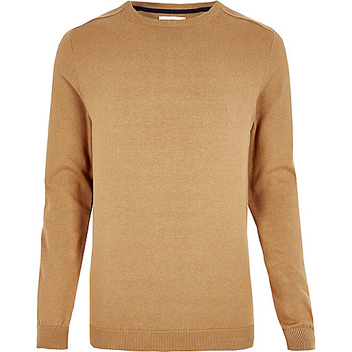 Light brown crew neck sweater
