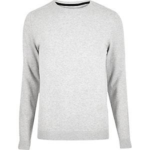 Light grey crew neck sweater