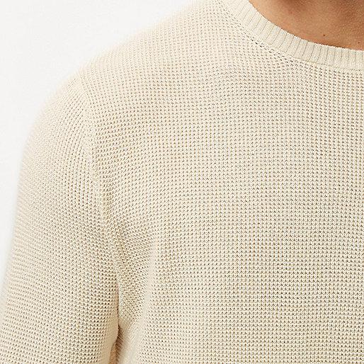 Strukturierter Pullover in Ecru