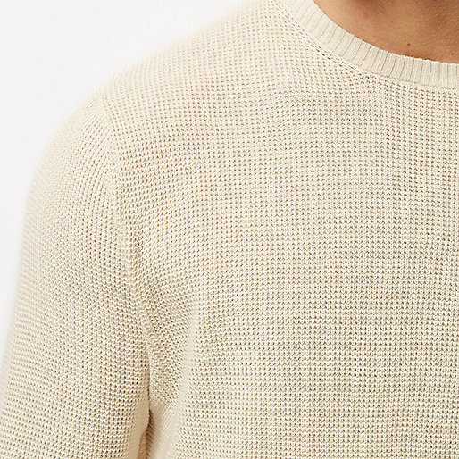 Ecru textured sweater