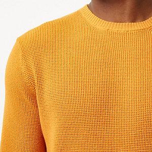 Dark yellow textured jumper