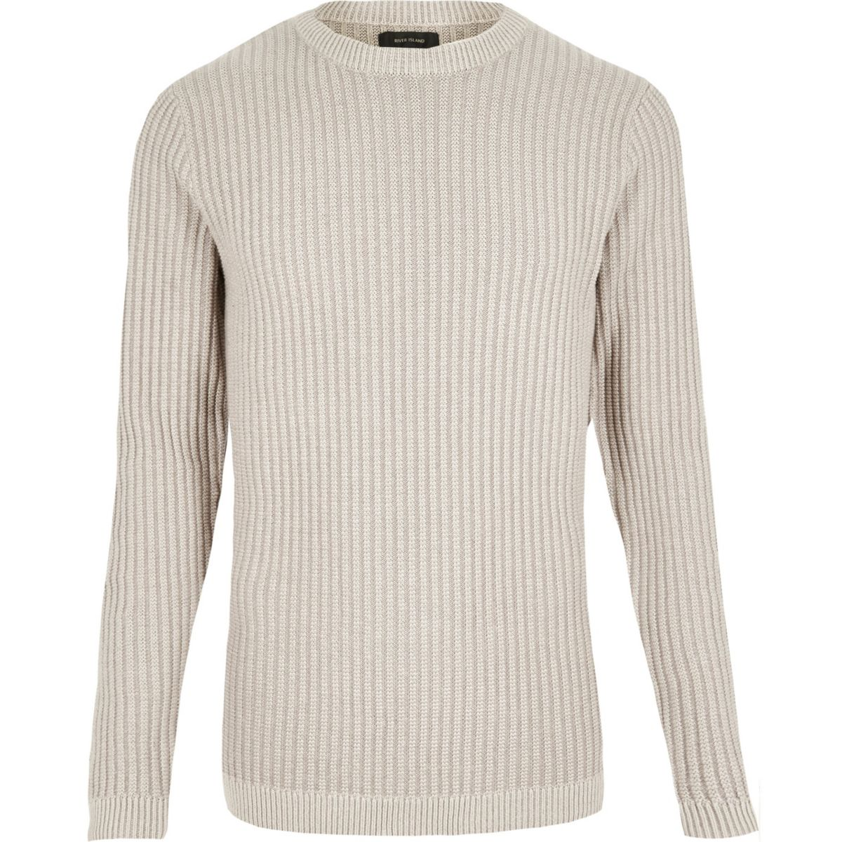 Schmaler Pullover in Ecru
