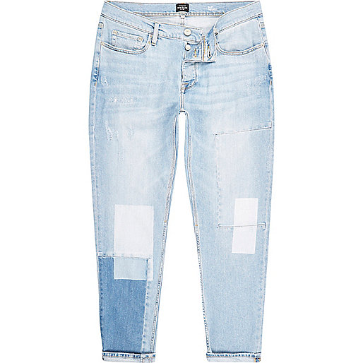 Light blue bleach Jimmy slim tapered jeans