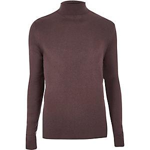 Purple roll neck jumper