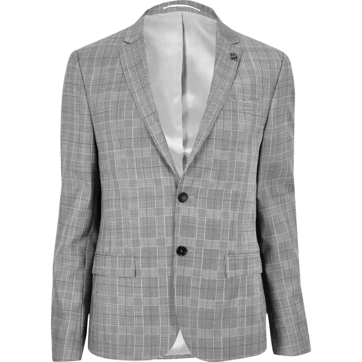 Veste de costume écrue coupe skinny