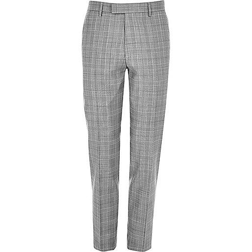 Pantalon de costume écru coupe skinny
