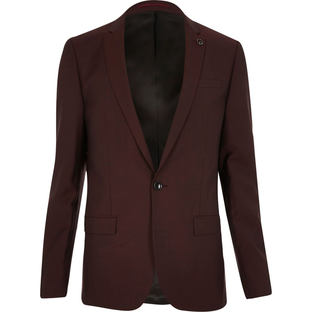 Berry skinny suit jacket