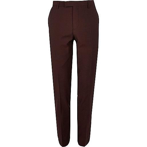 Pantalon de costume skinny rouge baie