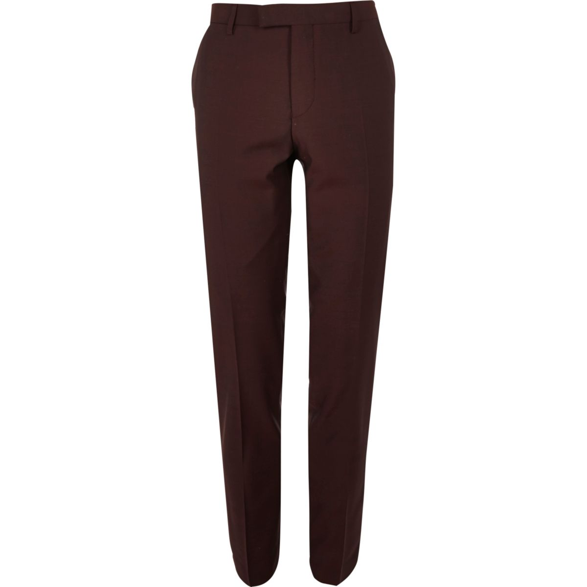 Berry skinny fit suit trousers