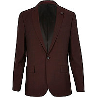 Berry slim fit suit jacket