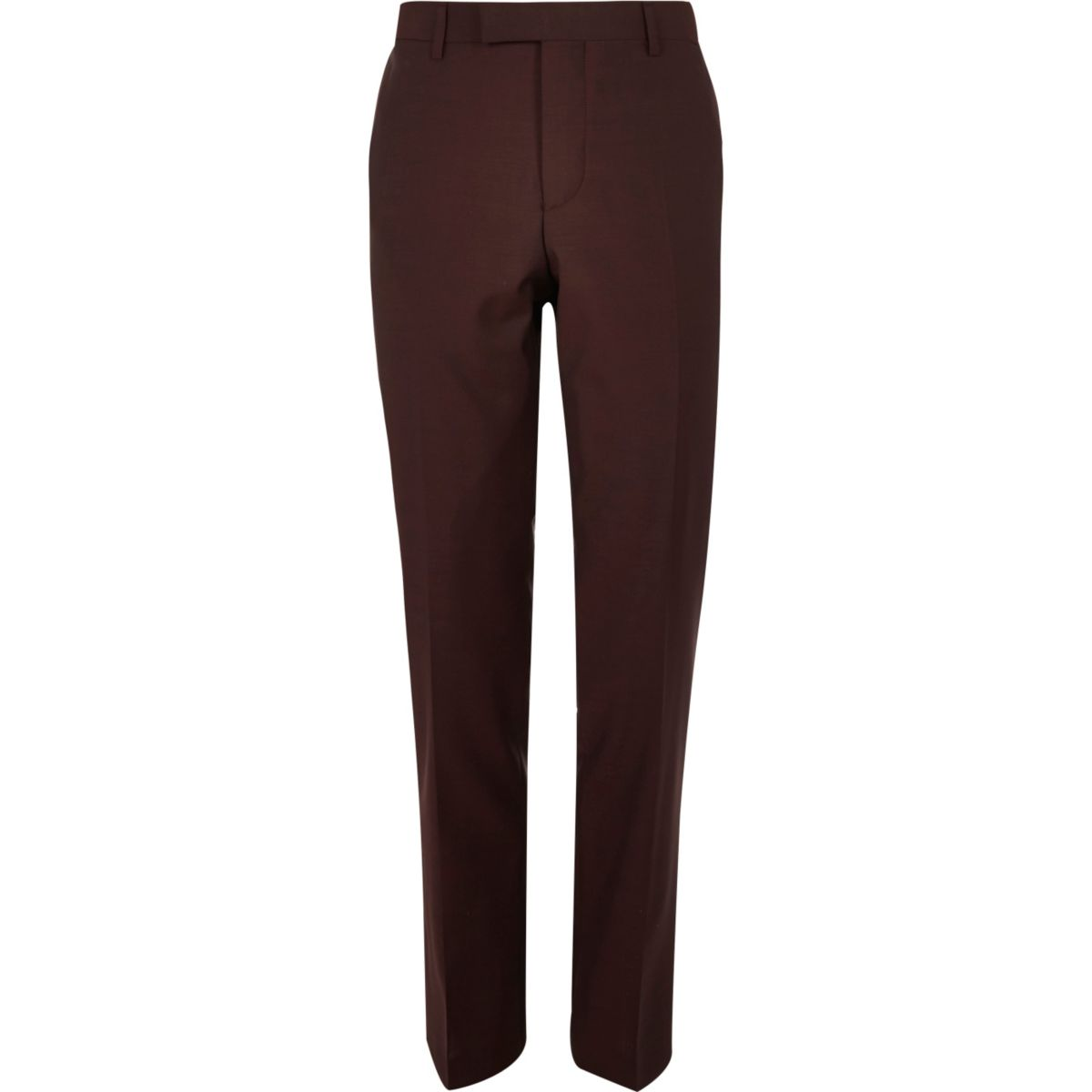 Pantalon de costume slim rouge baie
